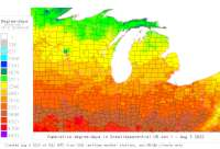 Great Lakes Central base 41 degree-days to date