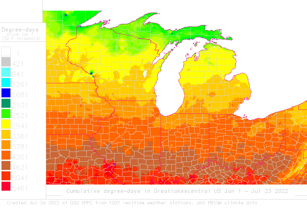 Soil Temperature Map