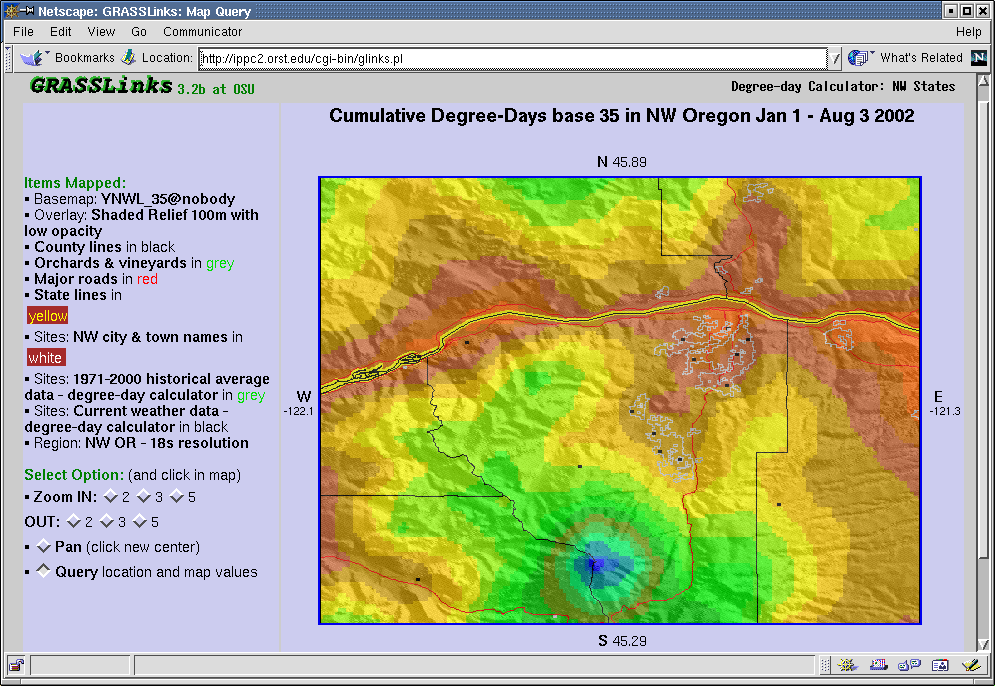 IPM Degreeday Data And Models Whats New Page - What's the current elevation